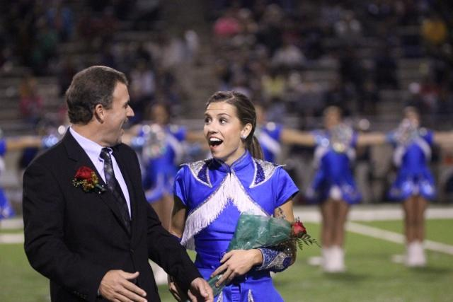 Senior Kaitlyn Harper looking astonished when she hears of her new title, Homecoming Queen