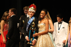 The Crowning: Marquecho and his date Gabrielle Barnett pose onstage. Photo thanks to yearbook staff.