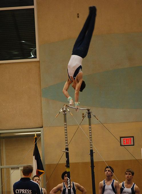 Alamo Challenge:  February of last year in San Antonio, TX, Anderson performed on the highbar and placed second in Nationals.