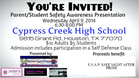 Self-defense class in Large Commons April 9