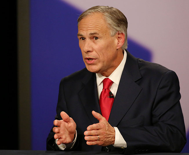 Texas Attorney General Greg Abbott, Republican candidate, answers a question during the final gubernatorial debate with Texas State Senator Wendy Davis, Democratic candidate, in a KERA-TV studio in Dallas on Tuesday, Sept. 30, 2014. (Andy Jacobsohn/Dallas Morning News/MCT)