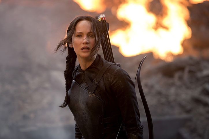 "Jennifer Lawrence stars as Katniss Everdeen in ""The Hunger Games: Mockingjay Part 1."" (Murray Close/Lionsgate/MCT)"
