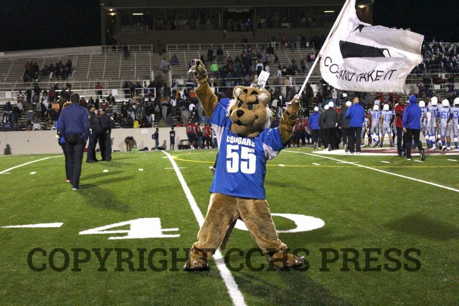 Colby+Cougar+celebrates+the+varsity+football%27s+team+first+playoff+win+in+several+years+at+Aldine%27s+Thorne+Stadium+on+Friday%2C+November+13.+