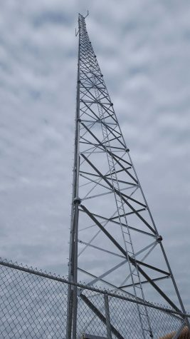 The new radio tower by the H-wing