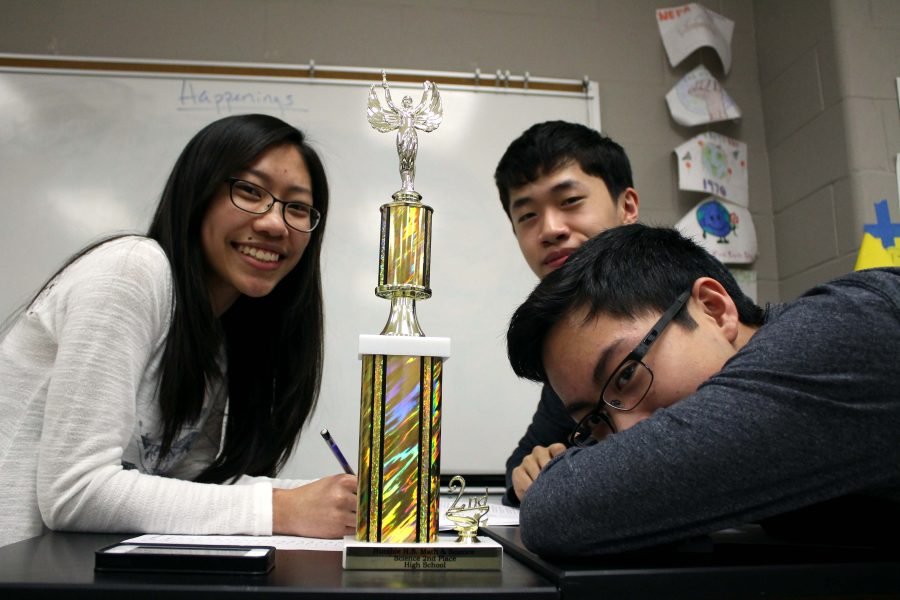 Seniors+Jonathan+Le%2C+Chantal+Thantrong+and+Timothy+Yang+placed+2nd+in+district+Science+UIL