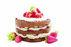 Cake Strawberry Sweet Cream Chocolate Bake
