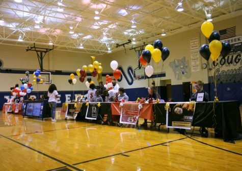 Table set up and ready for signing day