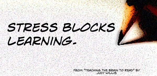 Educational Postcard: Stress blocks learning by Ken Whytock is licensed under CC BY-NC 2.0