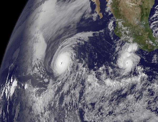 NASA Captures Two Major Hurricanes: Darby Trailing Celia by NASA Goddard Photo and Video is licensed under CC BY 2.0
