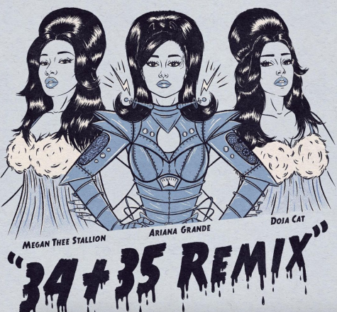 """34+35 Remix"" by Ariana Grande. Credit: Republic Records."