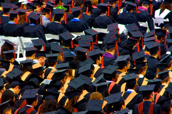 """""""A floor of graduation caps"""" by TracerBullet999 is licensed under CC BY-NC 2.0"""